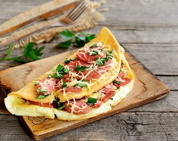 Omelette goût Bacon hyperprotéinée
