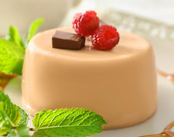 High protein caramel flan