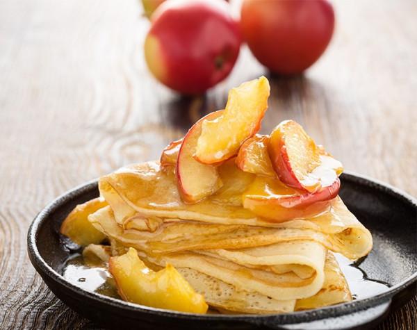 High Protein Apple Caramel Pancake Dough