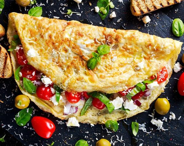 High protein Mediterranean omelette