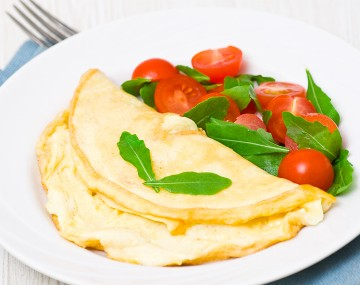 High protein cheese omelette