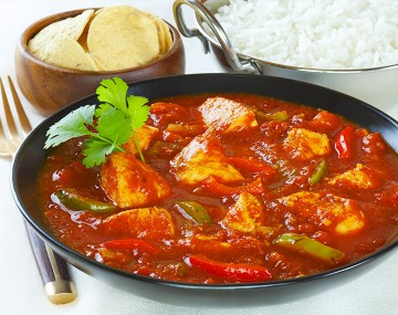 Basquaise chicken (cooked dish)