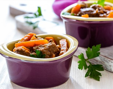 Beef Stew with Carrots (cooked dish)