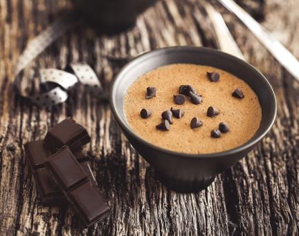 Entremets Chocolat Caramel hyperprotéiné Sans Gluten